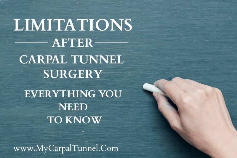 Recovery Times After Carpal Tunnel Surgery Carpal Tunnel Surgery