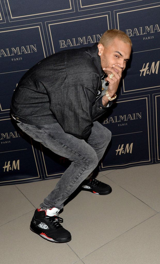 be042b8f2d4 chris-brown-supreme-air-jordan-5 | On feet | Chris brown style ...