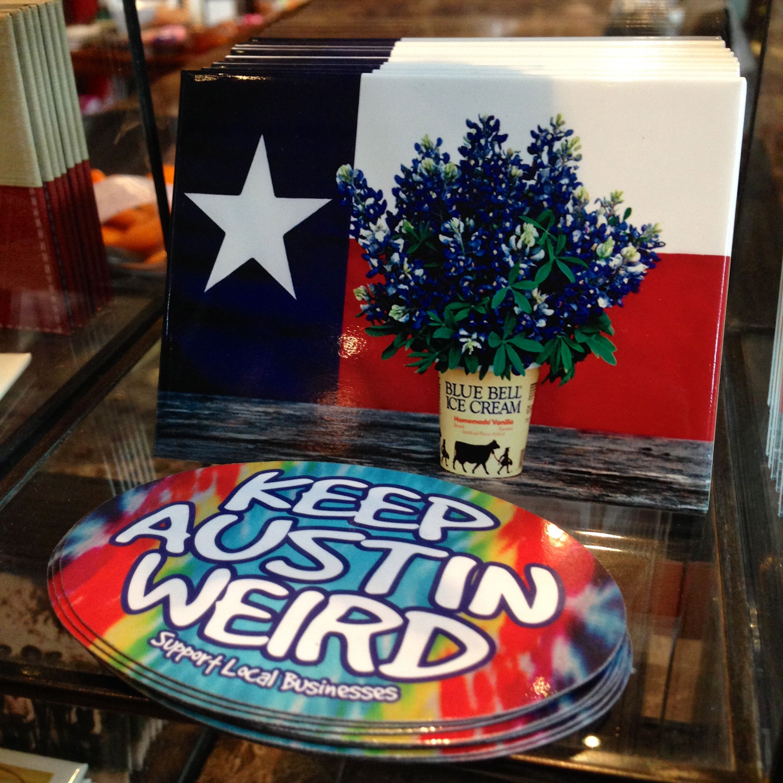 Texas Flag And Keep Austin Weird Bumper Stickers The Spirit Gift