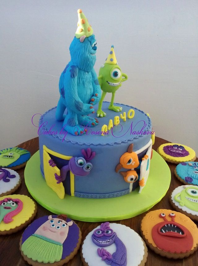 Monsters University Cake 5jpg Ronnys Birthday ideas Pinterest
