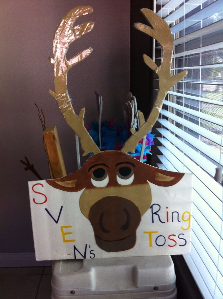 Svens ring toss game I made for frozen party