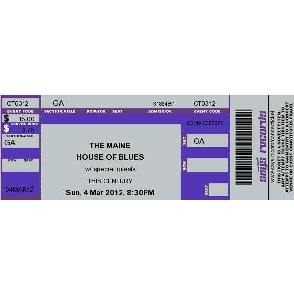 Concert Ticket Maker ❤ liked on Polyvore featuring home and - concert ticket maker