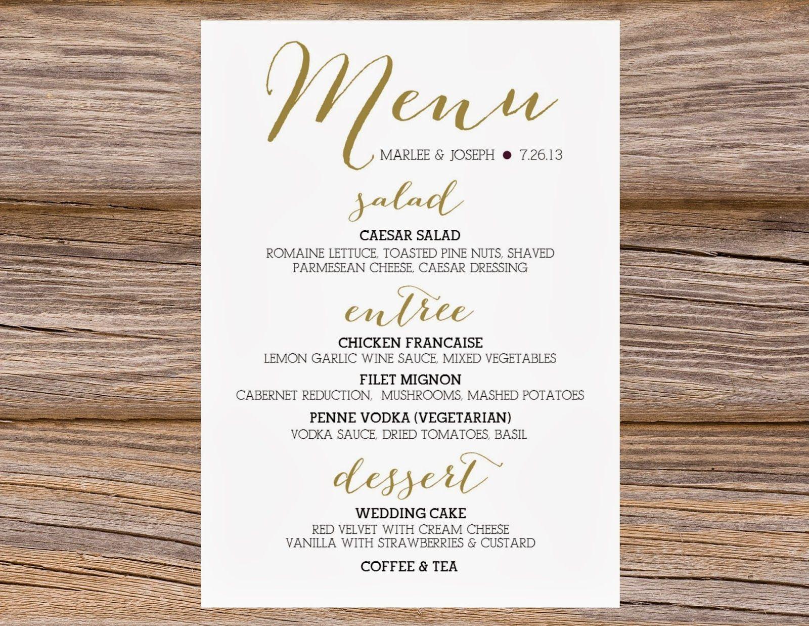 Bombshell Pro Menu Sample Getrankekarte Hochzeit Hochzeit Barkarte Bar Karte