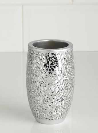 Silver Crackle Mosaic Tumbler - bathroom accessories - Home ...