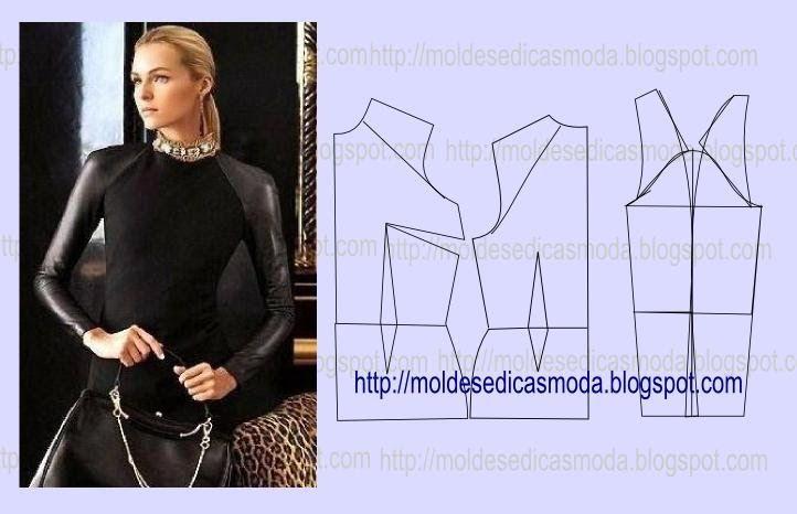 Detalhes de modelação de ombros e pence em desenho | Nähen ...