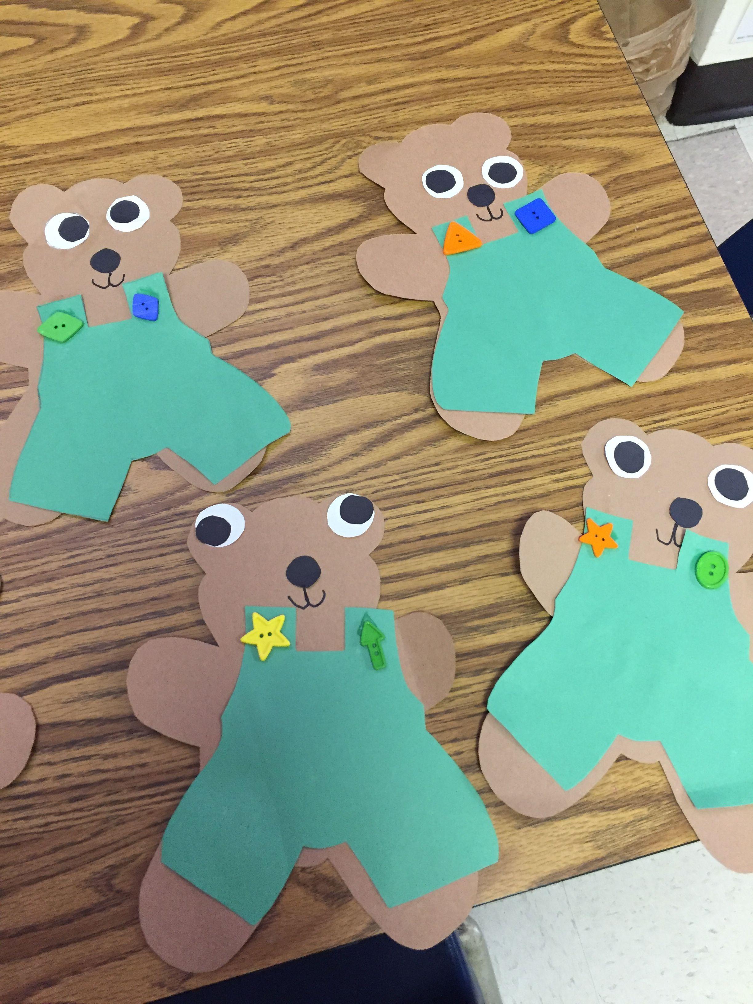 Corduroy Bear Preschool Craft