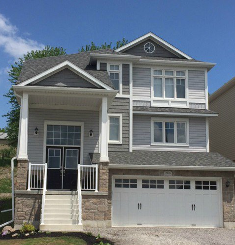 Kaycan Vinyl Siding Slate Grey Siding With Charcoal Shakes White Trims And Brown Stone Grey Gray Rustic U