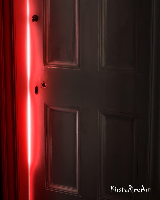 Horror Prints Red Door Gothic Art Creepy Art Goth Art Macabre