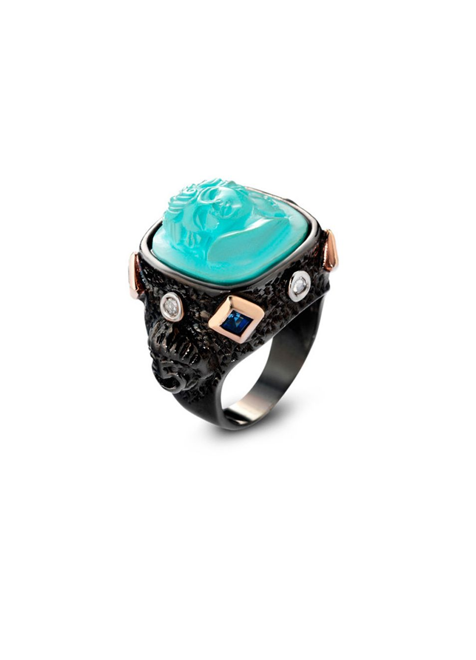 Turquoise face ring
