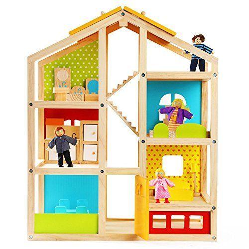 LLZJ Kind Puppenhaus Holz Kinder Vorgeben Spielhaus DIY Handgefertigten Spielzeug Puzzle Mode LLZJ Kind Puppenhaus Holz Kinder Vorgeben Spielhaus DIY Handgefertigten Spie...