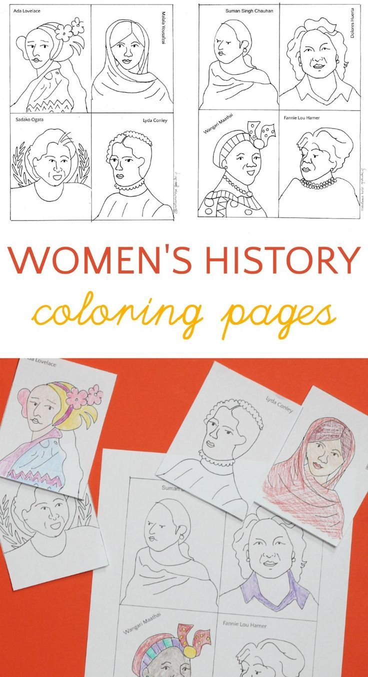 The Women Cards Women S History Month Coloring Pages Women In