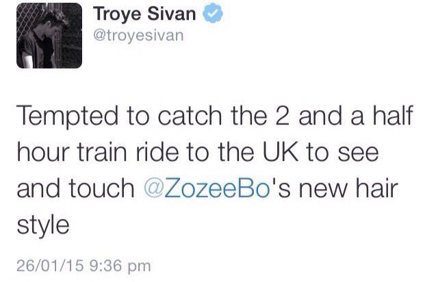 Troye and Zoe