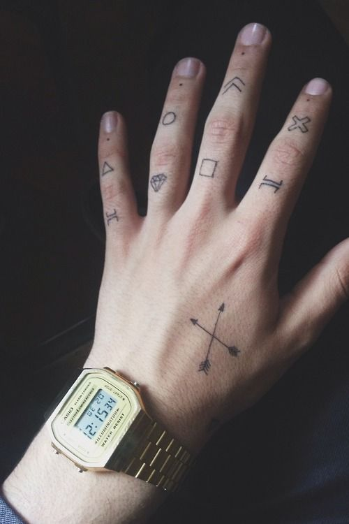 Tattoo Hand Fingers Casio Watch Ink Tattoos Finger Tattoos