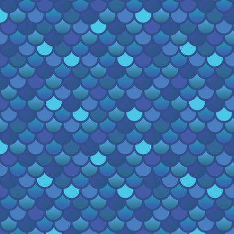 Colorful Fabrics Digitally Printed By Spoonflower Mermaid Fish Scales In Blues Fish Scales Mermaid Quilt Mermaid