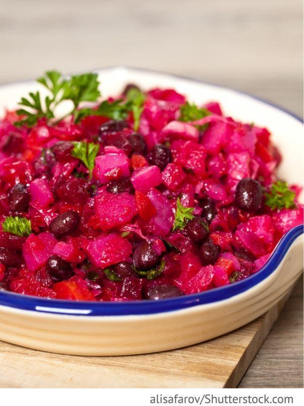 mit rote Bete und Kidneybohnen Vinigrett - Bинигрет - Russische Rezepte   - Foodtempel - Kochen Backen Genießen | Rezepte Ideen Tipps & Tricks-#chickensalad