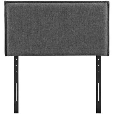 Best Camille Twin Upholstered Fabric Headboard Gray Modway 400 x 300