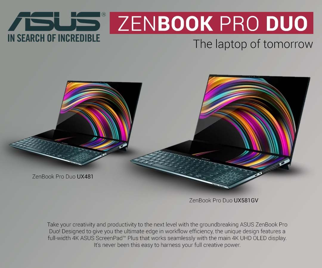 Zenbook Pro Duo Laptop Launches With Two Screens Touch Screen Laptop Touch Screen Cute Screen Savers