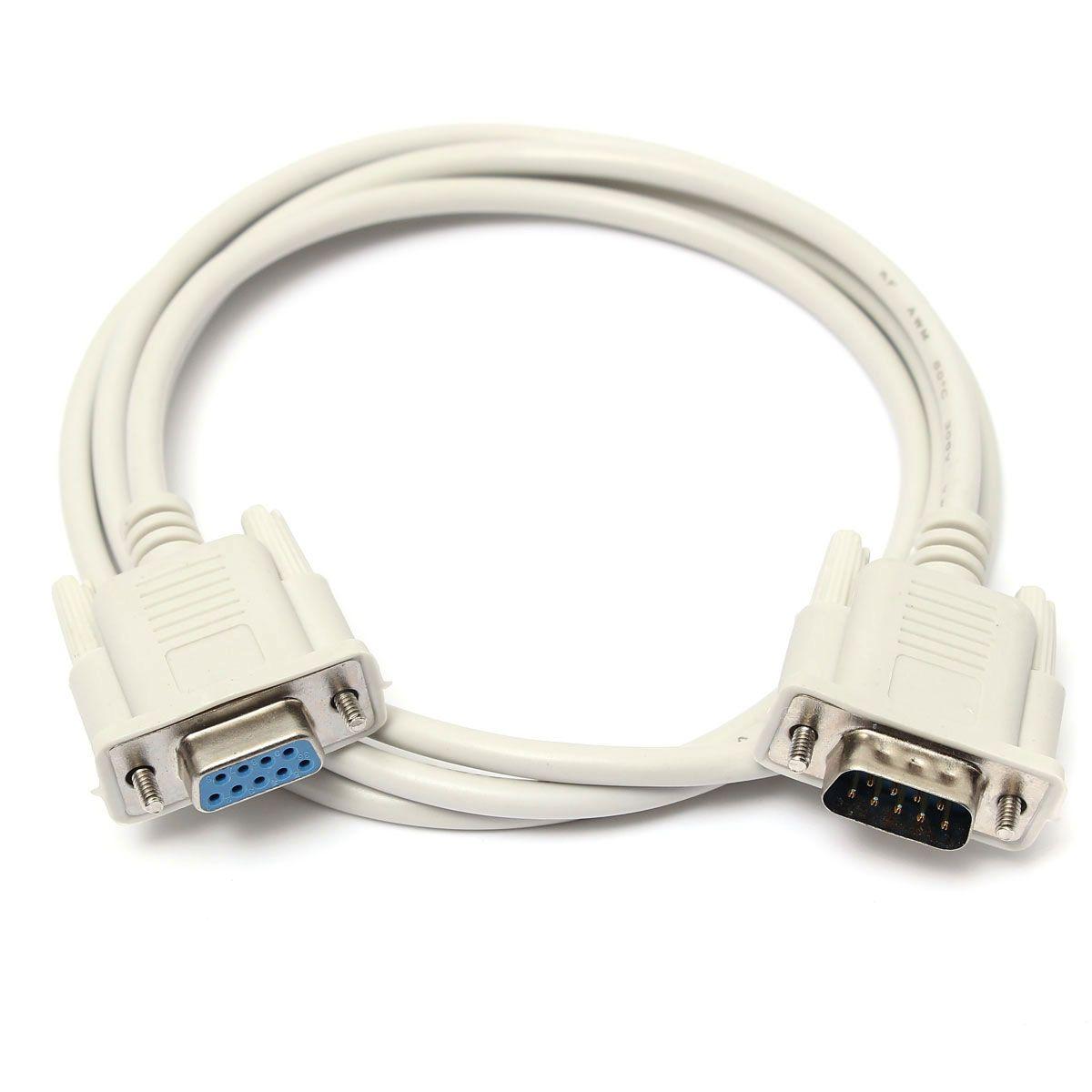 1 5m 9 Pin Rs232 Serial Db9 Male To Female Data Cable Gift Diy Home Homedecor Rustic Wedding Valentine Accessories Beauty Uzatma Kablosu Kablo Sadakat
