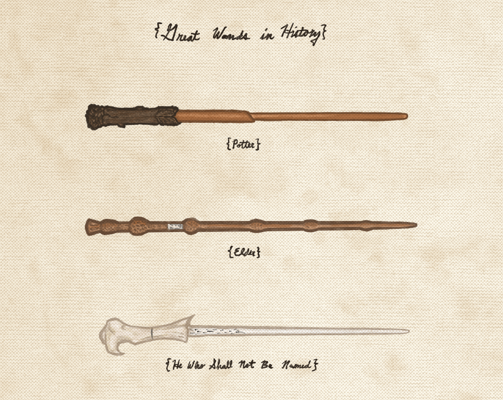 "Joe Van Wetering ""Great Wands in History"" Print"