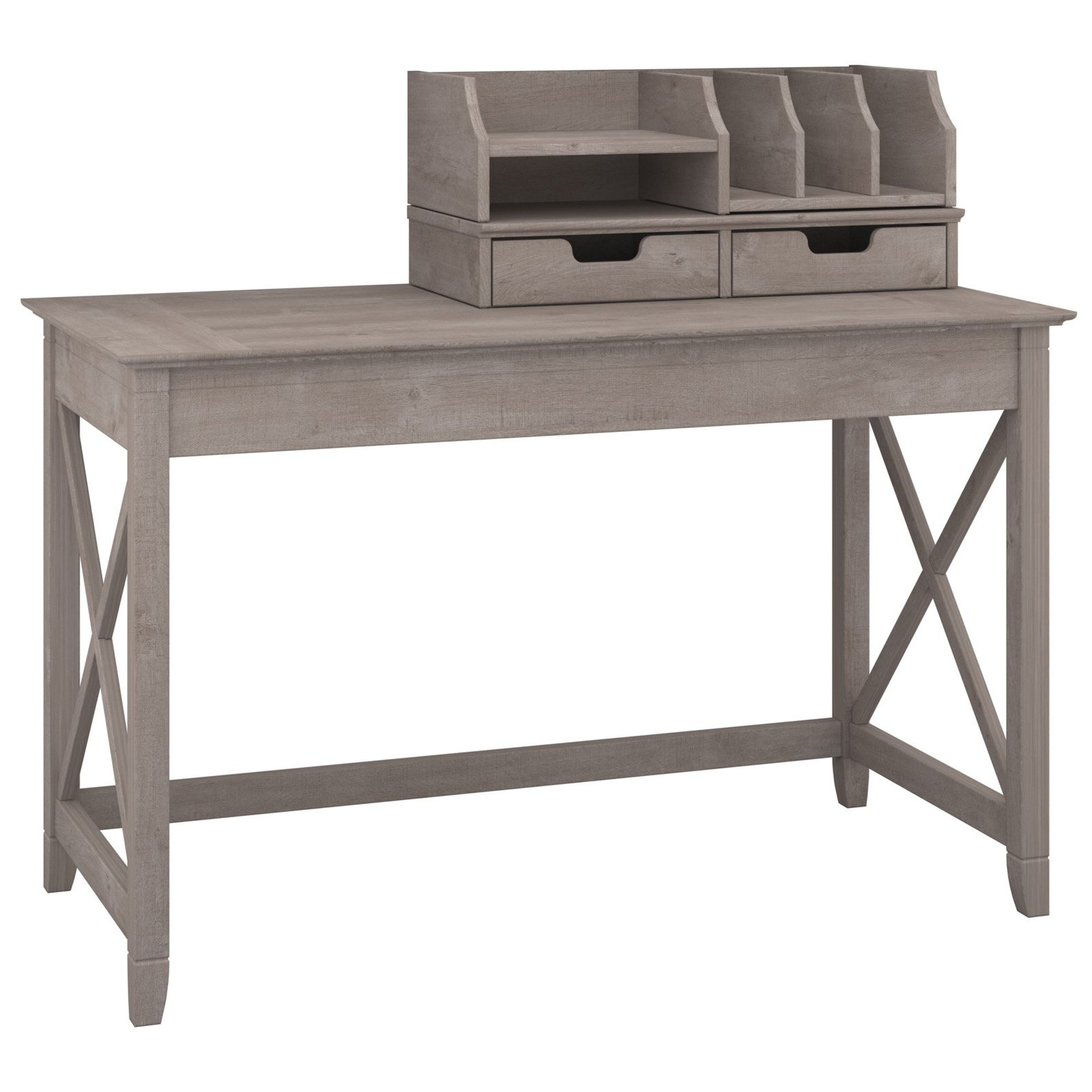 Bush Furniture Key West 48 In Writing Desk With Optional Desktop