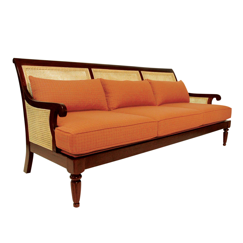 The Barbados Sofa Wood Open Weave Cane From Walters Wicker Interior Collection Furniture Indoor Wicker Furniture Wicker Decor