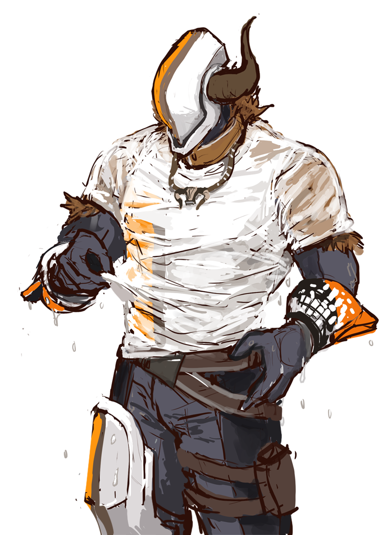 Therealbadasshere Asked For Shaxx Participating In A Wet T Shirt Contest In Stream And I Think I May Have Gone A Bit Ove Destiny Game Destiny Character Design