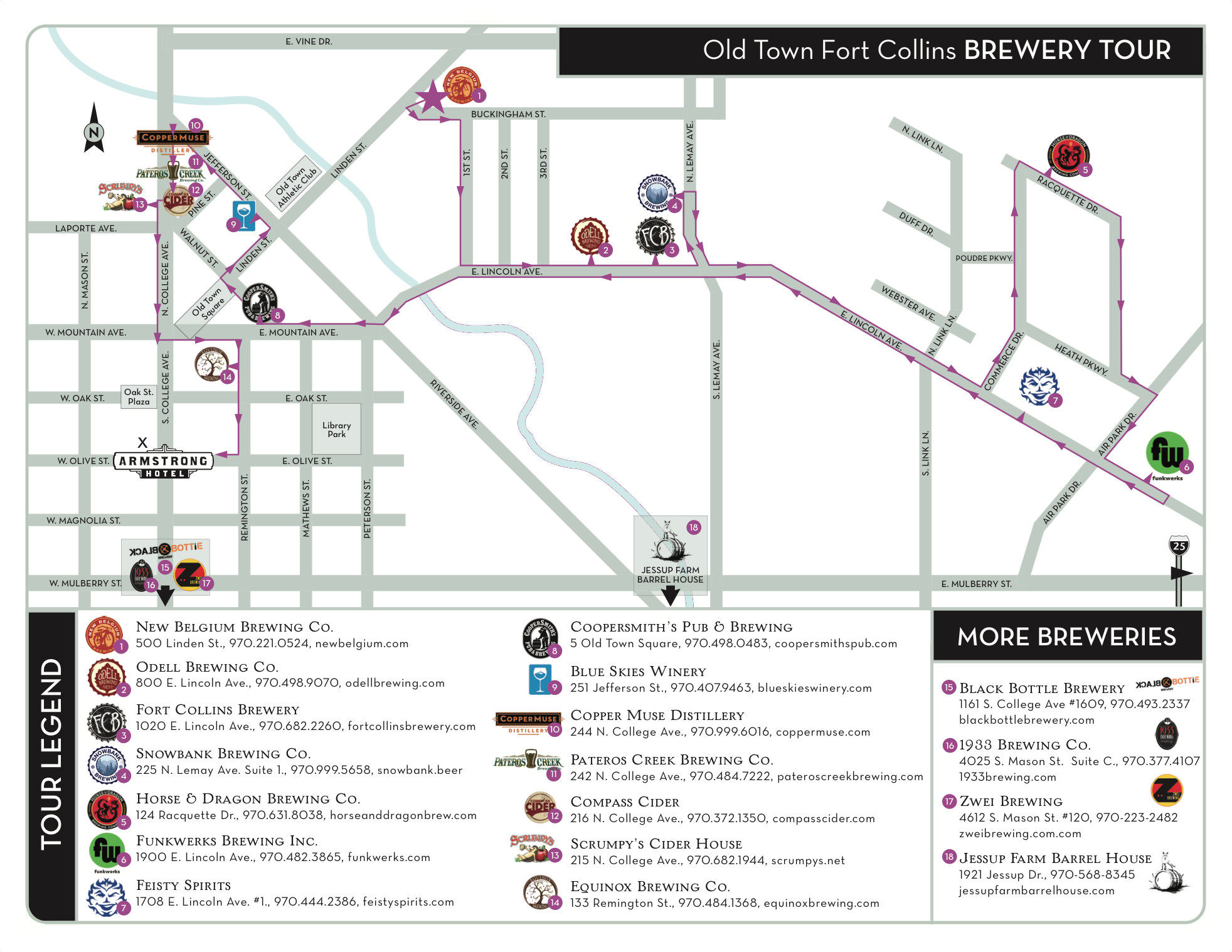 Fort Collins Colorado Map What to Do in Fort Collins   The Armstrong Hotel   Fort collins
