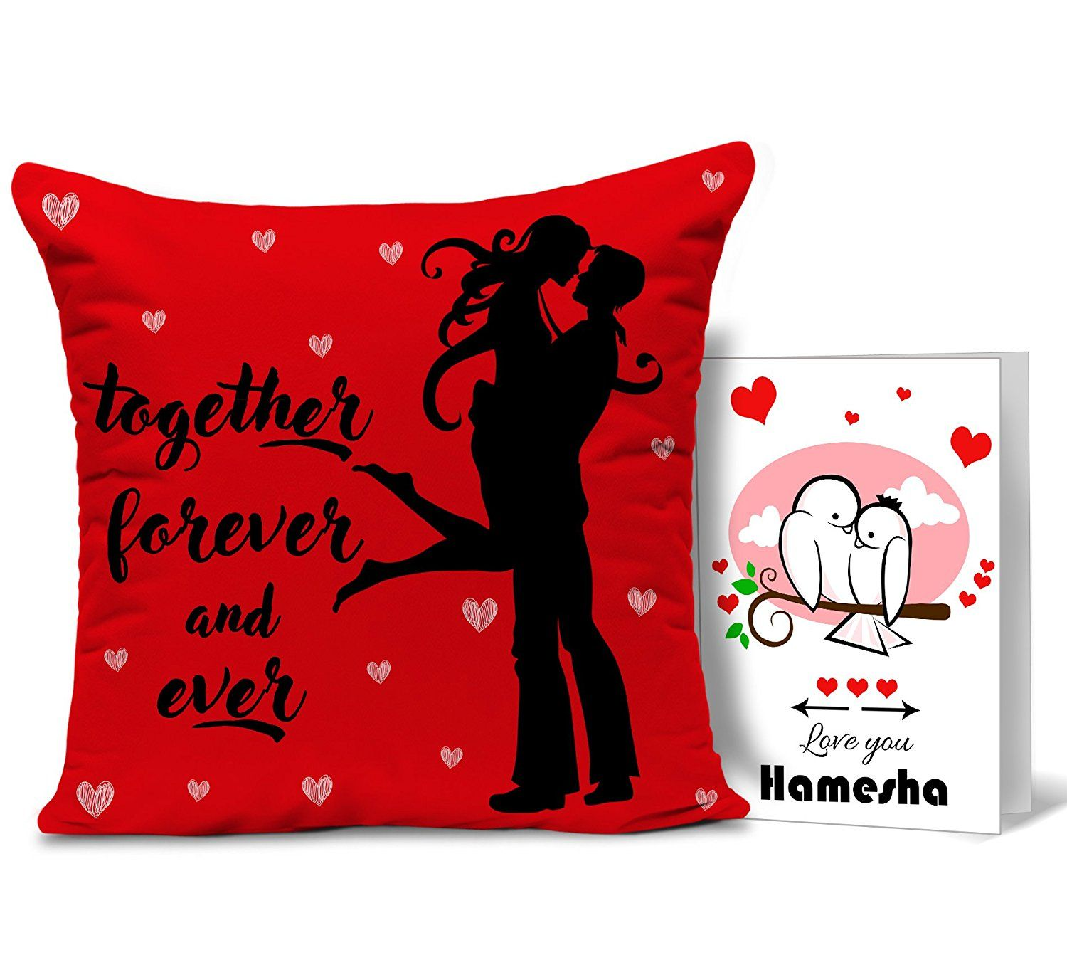 Buy TiedRibbons Valentines Gift For Girlfriend Boyfriend Husband Wife Him Her Printed Cushion With Filler And