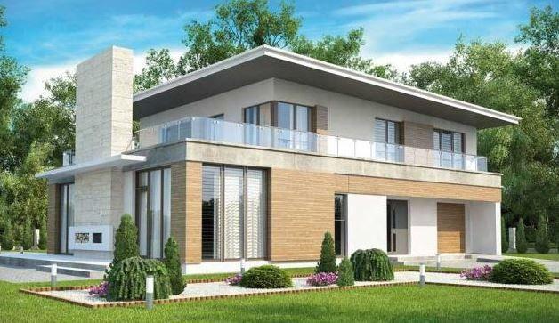 Casa moderna con oficina y terraza planos casa oficina for Casas con balcon y terraza