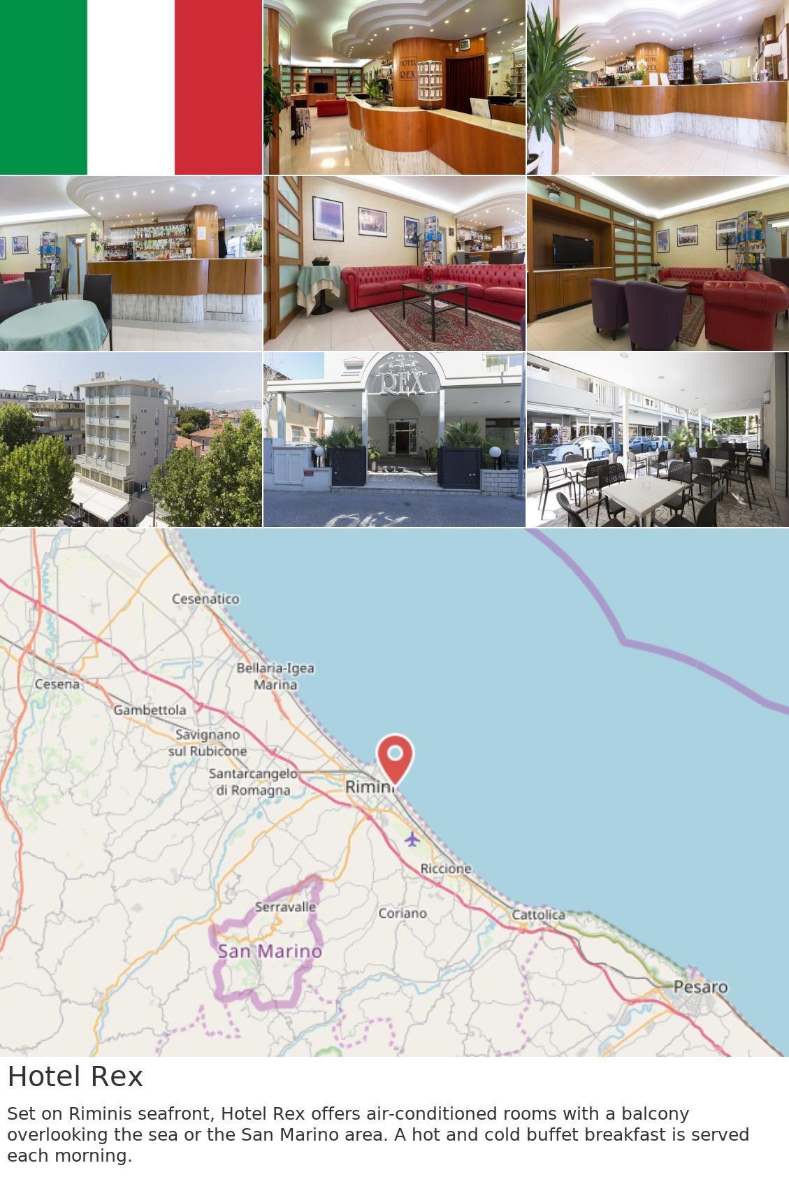 Europe Italy Rimini Hotel Rex Set On Rimini S Seafront Hotel