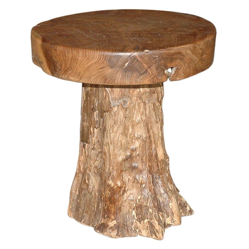 Round Chair made of Teak.