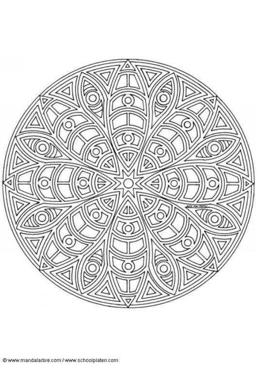 Verwonderend Coloring page mandala-1402c - img 4454. | Mandala kleurplaten JV-15
