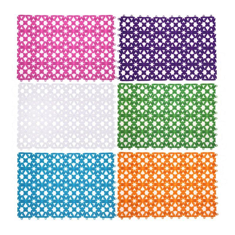 Shower Mats Bathroom Floor Mat Plastic Multicolor Heart Shape Anti Slip Rug Shower
