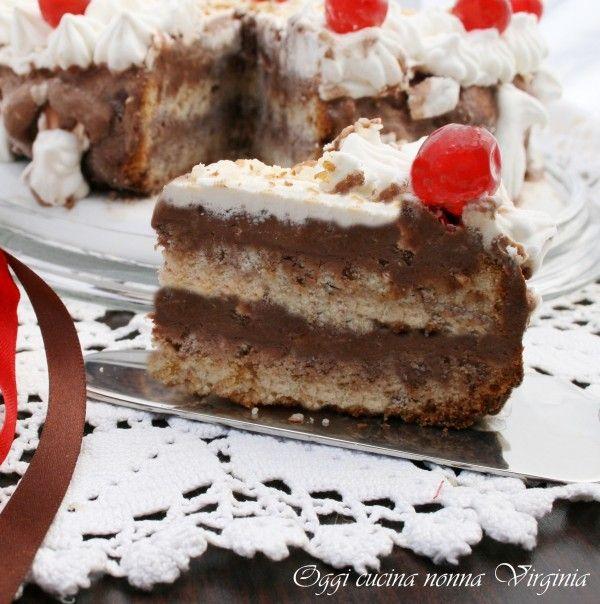 Photo of Torta gelato cioccolato e mandorle,dolce da gustare in ogni stagi