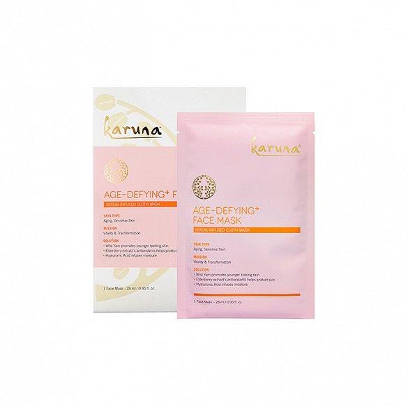 Single-use, deep conditioning sheet masks // Karuna Exfoliating+ Face Mask & Age-Defying+ Face Mask