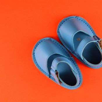 Abarca-MMartinyca-Bebé-Cuero-Azul-menorquina-ibicenca