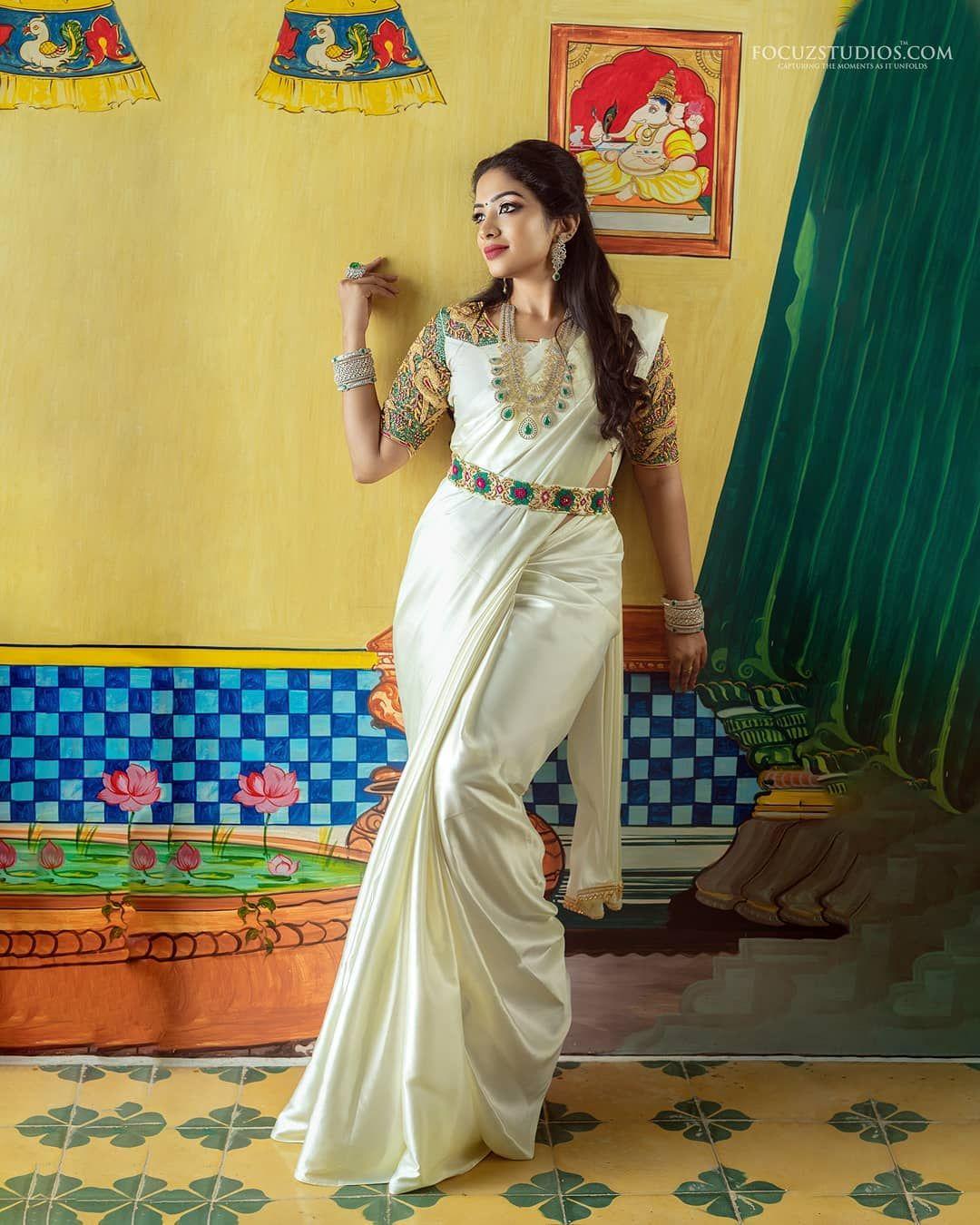 Photo of bridal saree and blouse