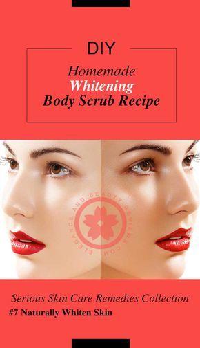 Homemade  Whitening  Body Scrub Recipe
