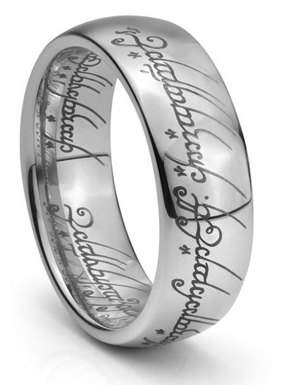 I D Love For My Wedding Bands To Have Something Sweet Engraved In Elvish