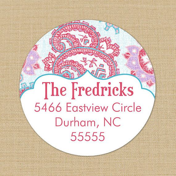 Shabby Paisley - Custom Personalized Address Labels or Stickers by PoshGirlBoutique