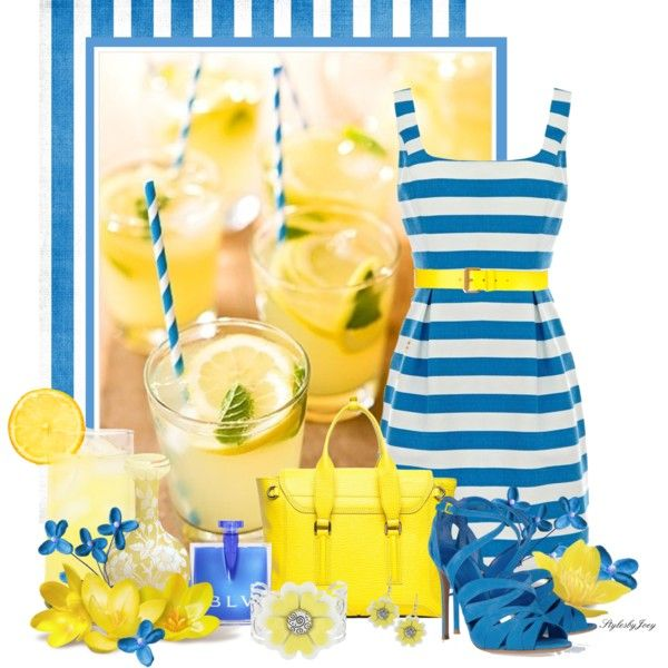 """A Glass of Sunshine"" by stylesbyjoey on Polyvore"