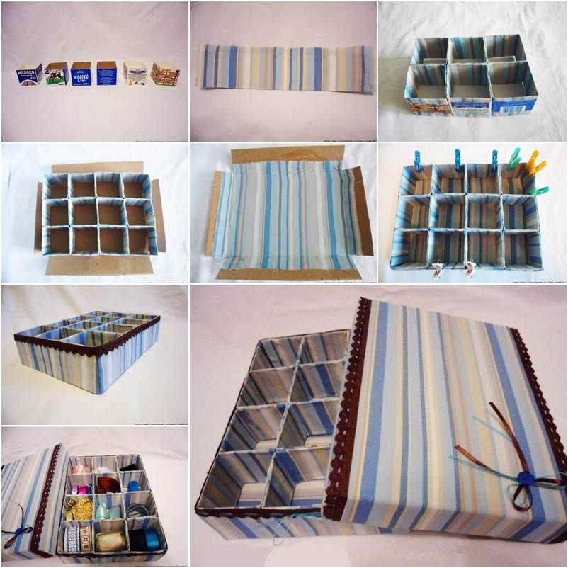 how to diy cardboard storage box with dividers aufbewahrungsbox karton und ordnung halten. Black Bedroom Furniture Sets. Home Design Ideas