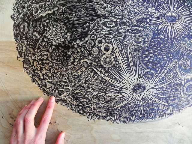 Carving the Moon: A New Woodcut Print by Tugboat Printshop