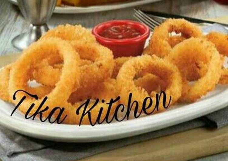 Resep Cara Membuat Onion Ring Masakanmu Com Resep Resep Resep Masakan Masakan