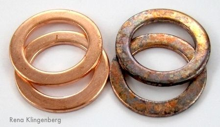 Rustic Copper Washer Earrings tutorial