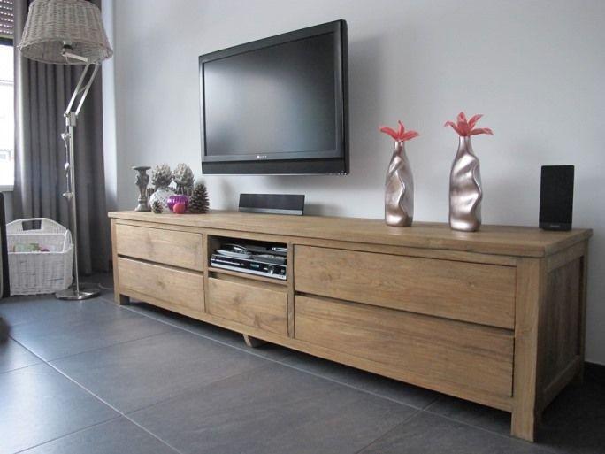 modern teak tv meubel - teak meubelen | pinterest - tv, zoeken en, Deco ideeën