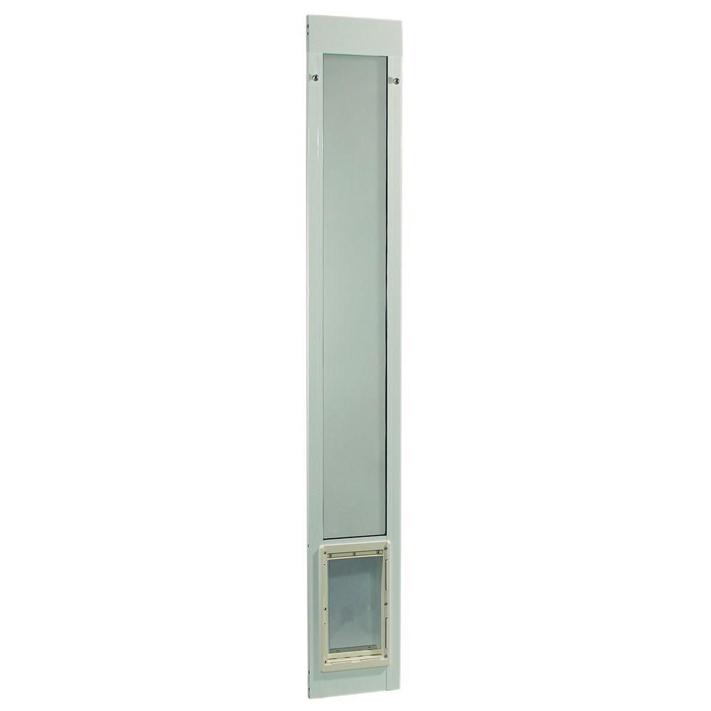 Ideal Pet 7 In X 11 25 In Medium White Aluminum Pet Patio Door