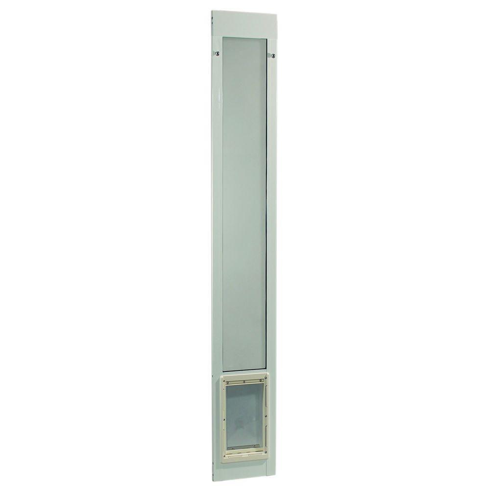 Ideal Pet 7 In X 11 25 In Medium White Aluminum Pet Patio Door Fits 77 6 In To 80 4 In Standard Alum Slider Balcony Design Patio Dog Door Patio Doors