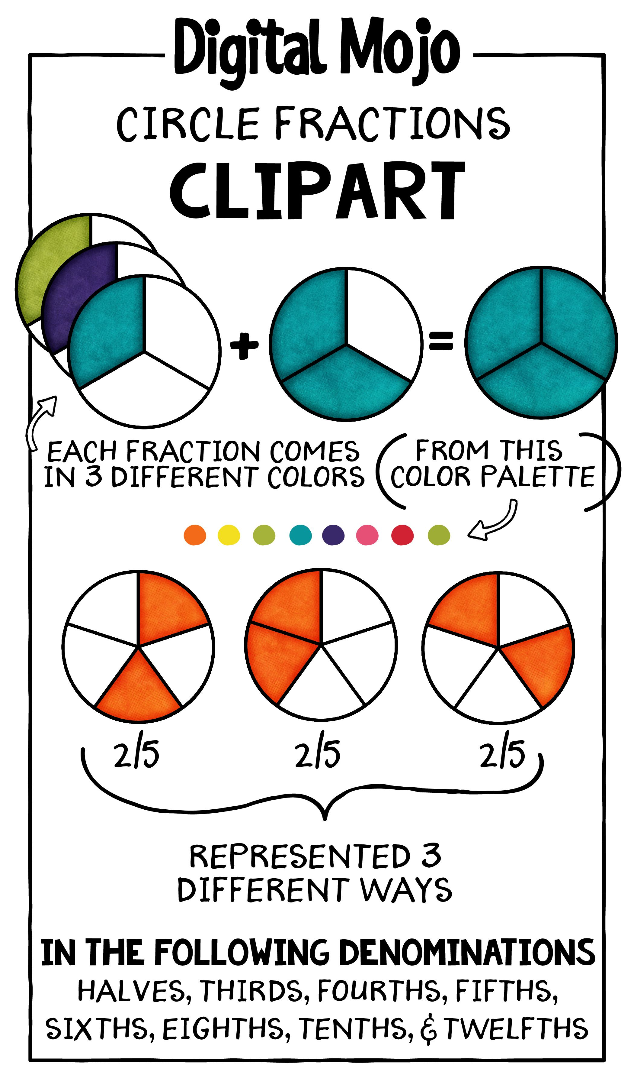 Fraction Clipart Circles