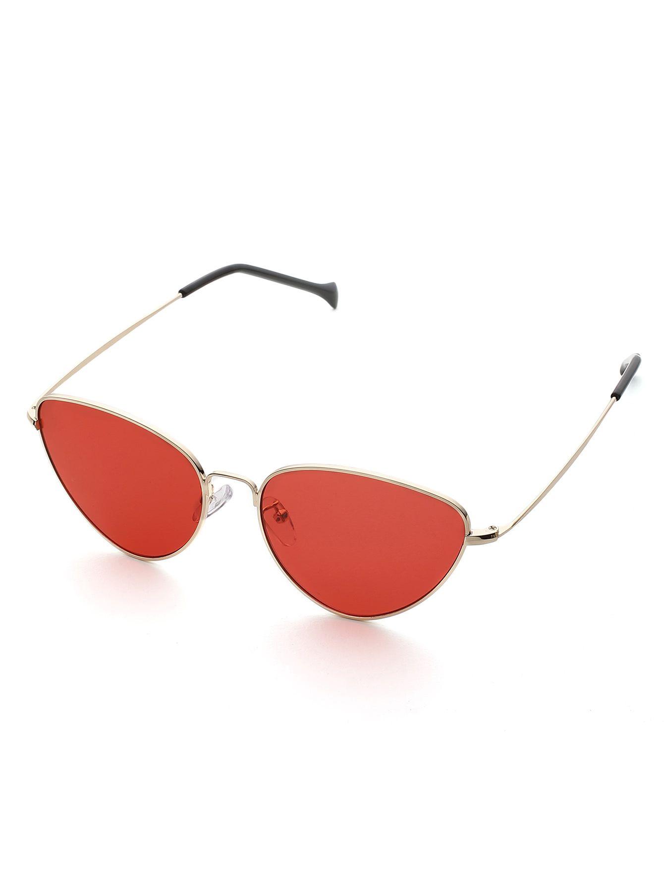 5283ae19f8 Oval Shaped Flat Lens Sunglasses